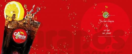Aufkleber Gerätefront (2-teilig) Grapos-Zitronenglas rot